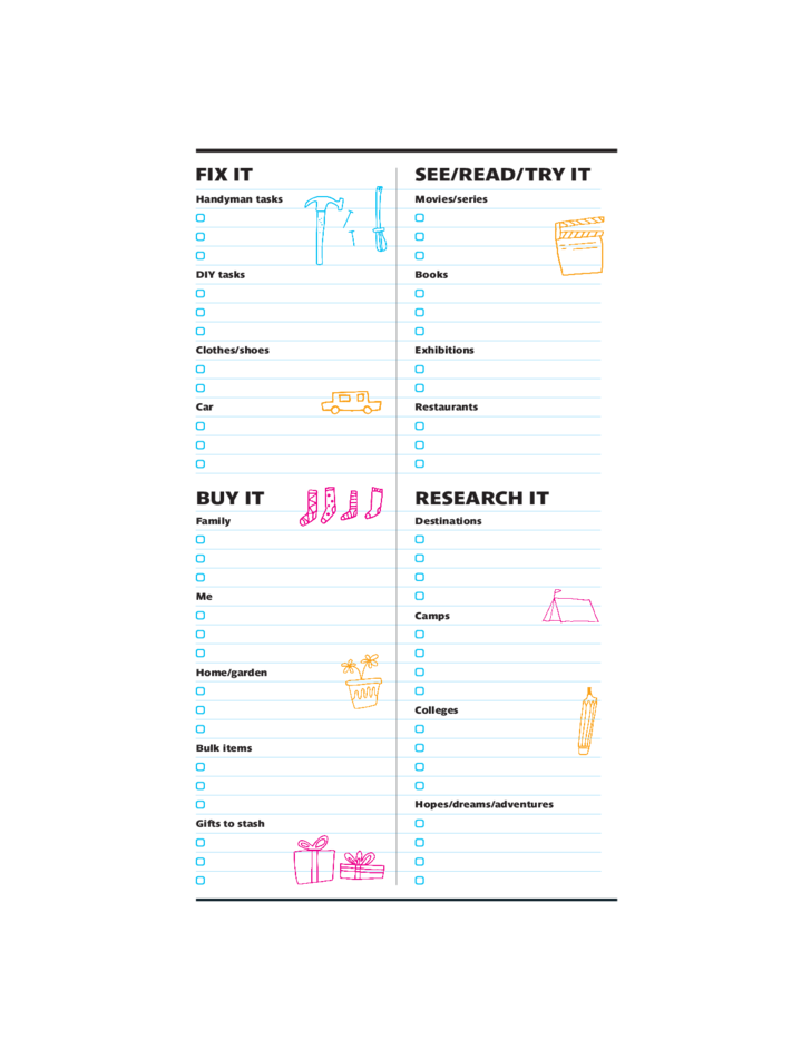 creative to do list template free download