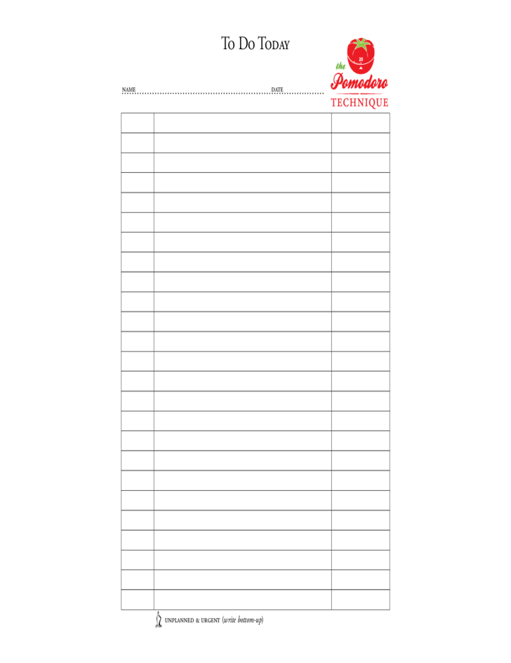 daily to do list form free download
