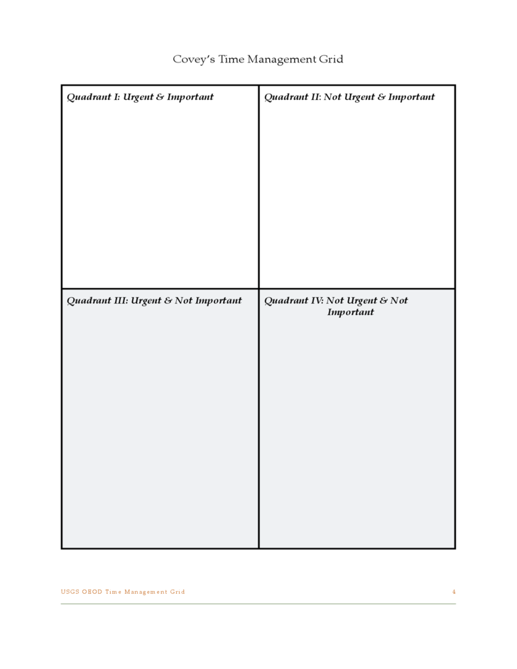 Time management grid template free download for Time management to do list template