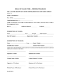 Trailer Bill of Sale Form Sample Free Download