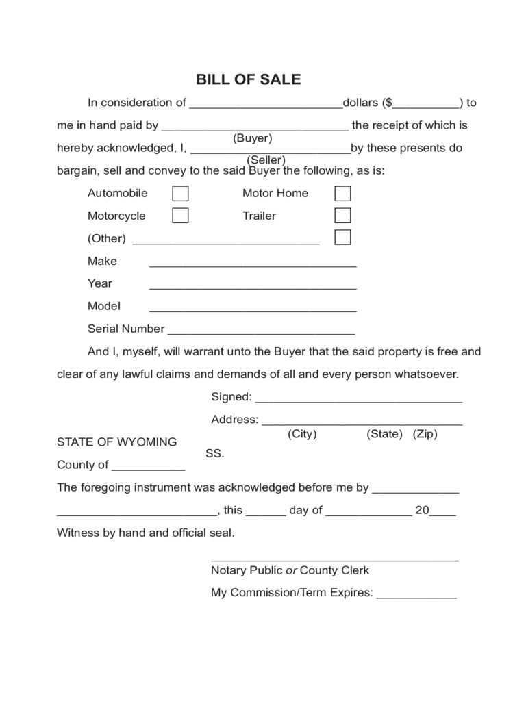 bill of sale for rv free printable documents trailer bill of sale