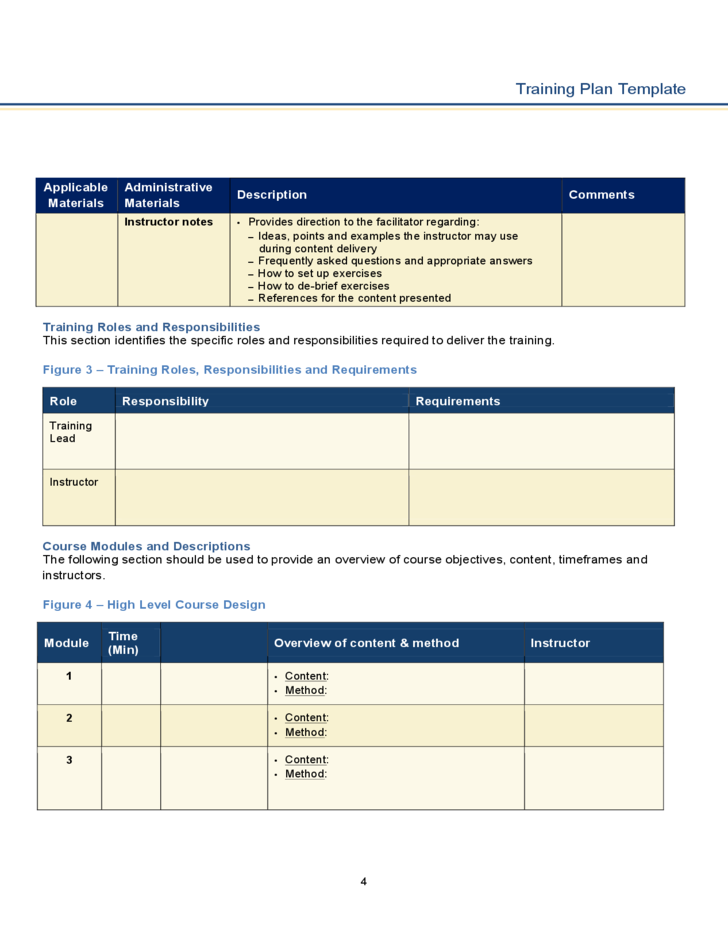 training plan template free download