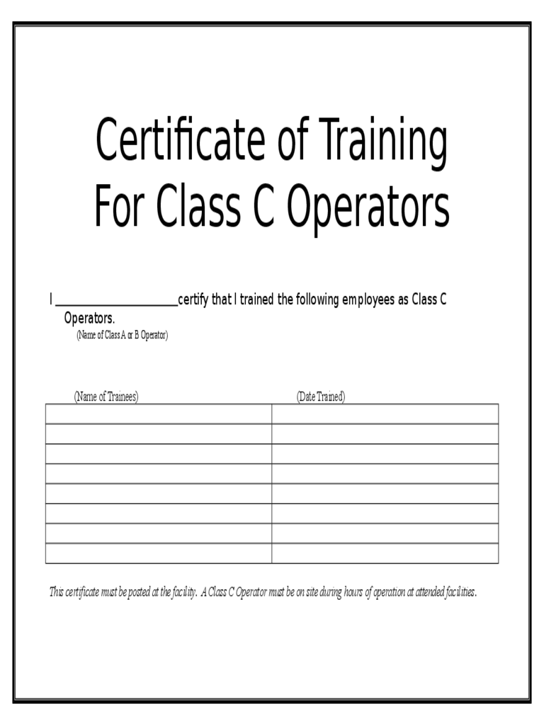 Certificate Of Training Template  Certificate Of Training Template