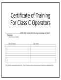 Certificate of Training Template Free Download