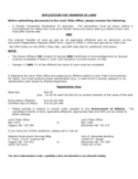 Application for Transfer of Land - Alberta Free Download