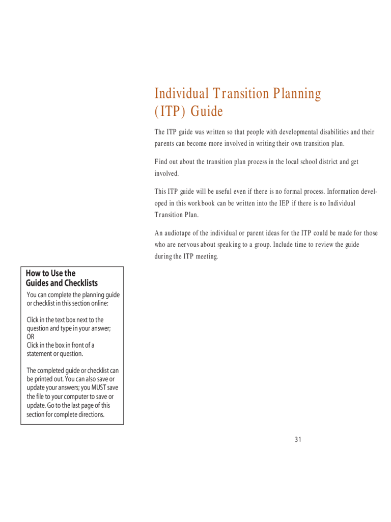 Transition plan template 6 free templates in pdf word excel individual transition planning guide alramifo Images