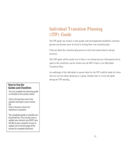 Individual Transition Planning Guide Free Download