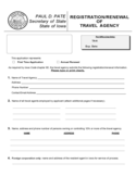 Registration or Renewal of Travel Agency - Iowa Free Download