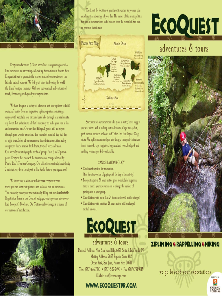 EcoQuest Adventures & Tours Brochure Free Download