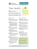 Sample for Vacation Checklist