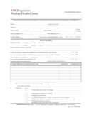 Travel History Form - California Free Download