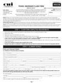 Travel Insurance Claim Form - Australia Free Download