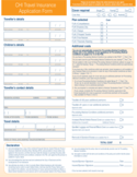 CHI Travel Insurance Application Form Free Download