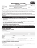 Blank Travel Insurance Claim Form Free Download