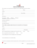 Student Trip Registration Form - Georgia Free Download