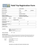 Field Trip Registration Form - Virginia Free Download