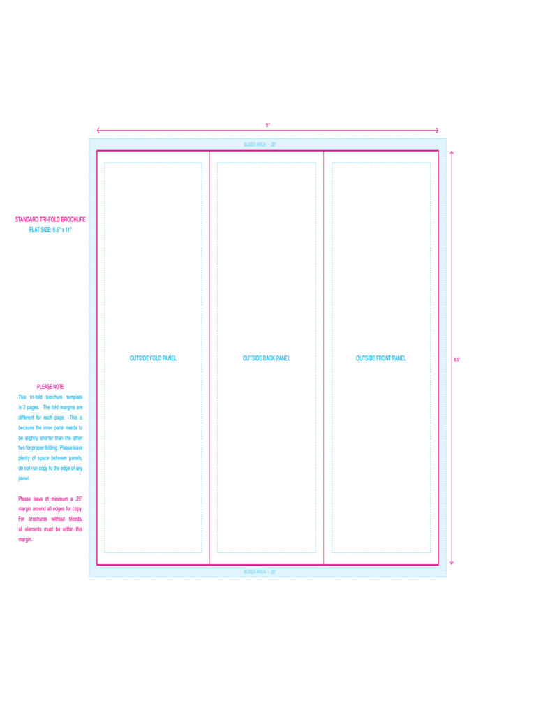 Standard Tri-fold Brochure Template Free Download