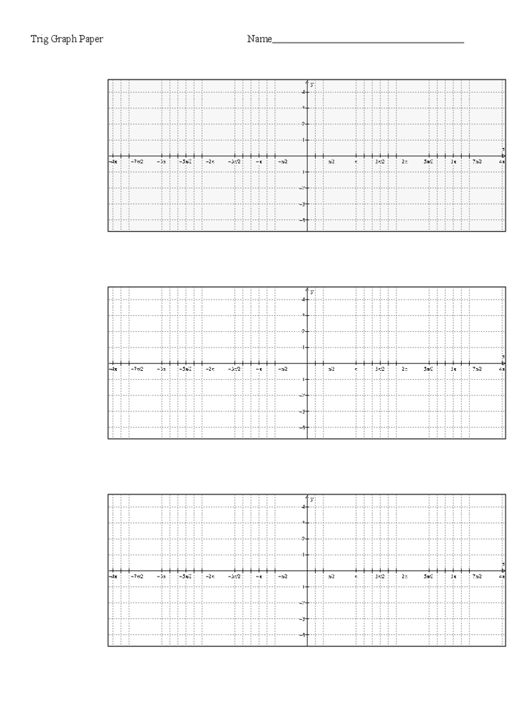 Basic Trig Graph Paper Form