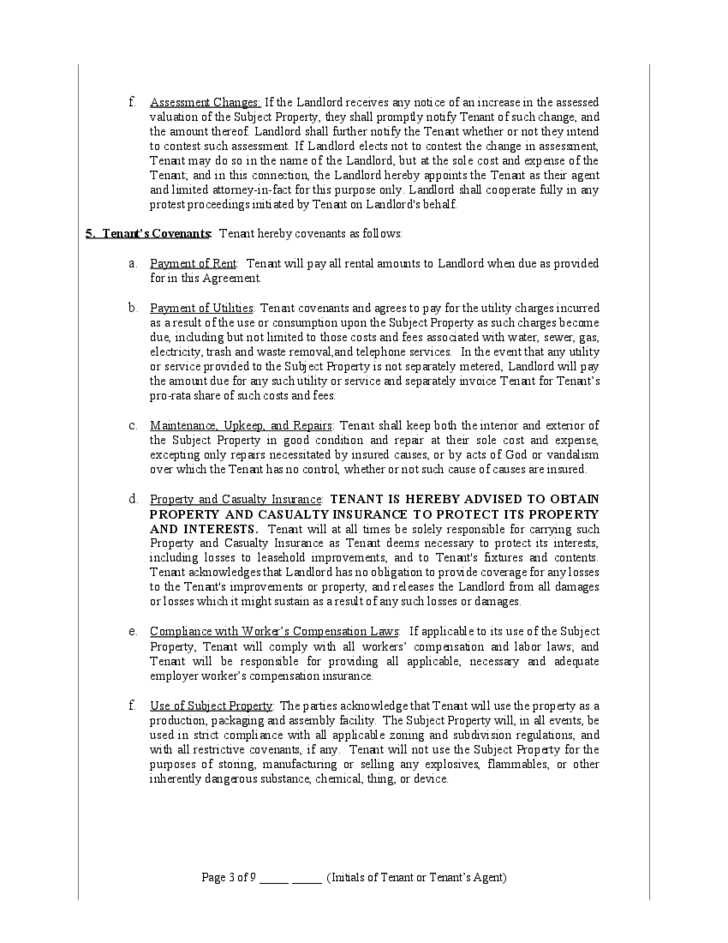 Triple Net Lease Form Missouri Free Download