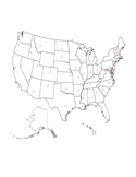 Printable State Capitals Location Map Free Download