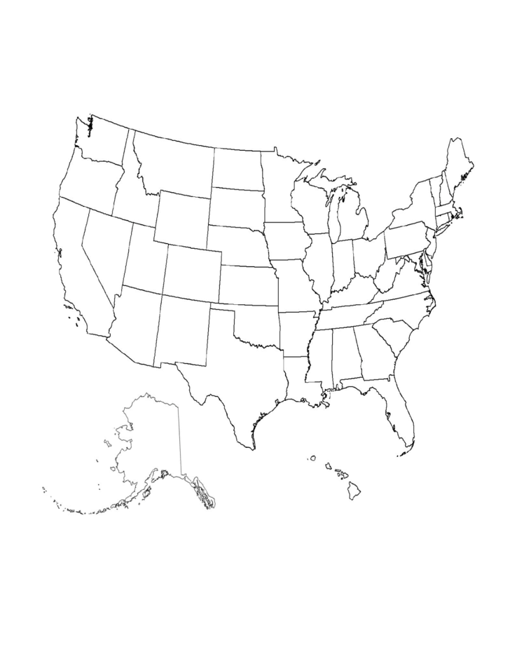 1 blank us map