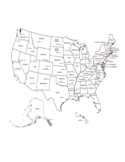 US Map with State and Capital Names Free Download