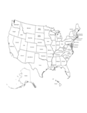 US Map with State Names Free Download