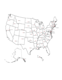 State Capitals Map Free Download