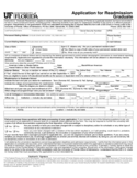 University of Florida Application Form for Admission Free Download