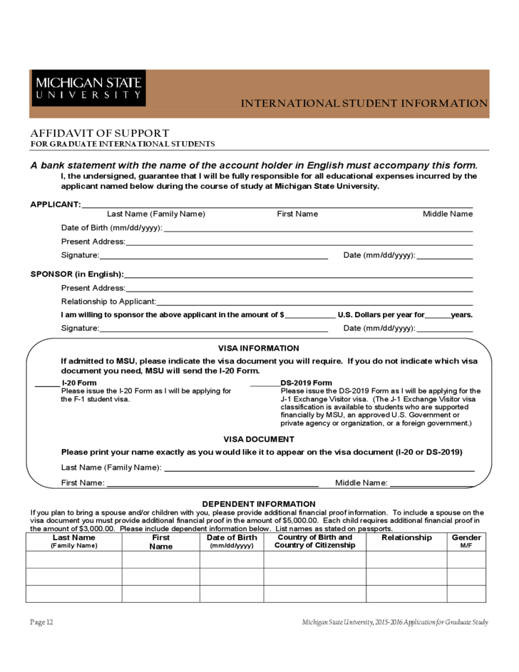 Michigan state application essay online masters