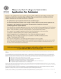 Minnesota State Colleges & Universities Application Form Free Download