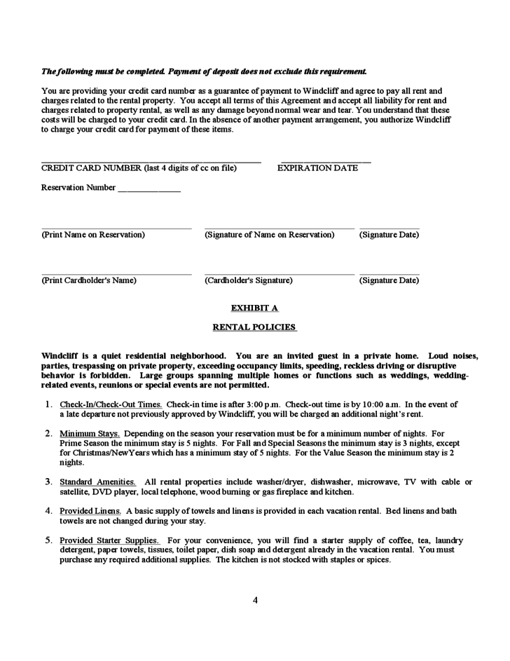 Vacation Rental Short-Term Lease Agreement Free Download