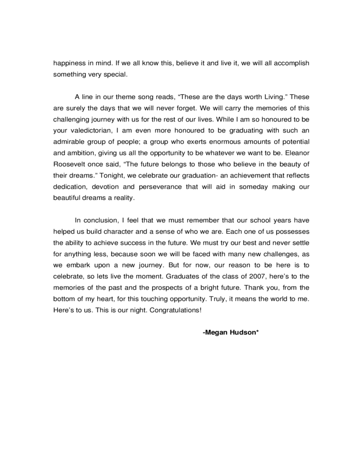 Valedictory Speech Research Paper Academic Writing Service
