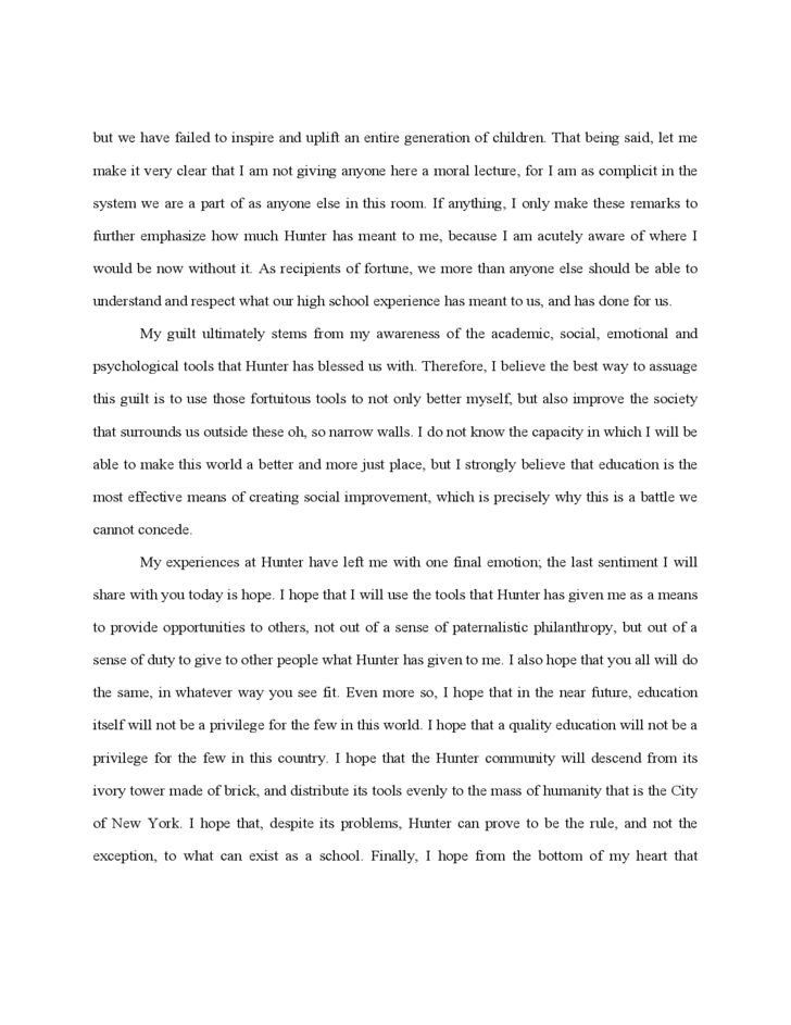 4 Valedictorian Speech Template