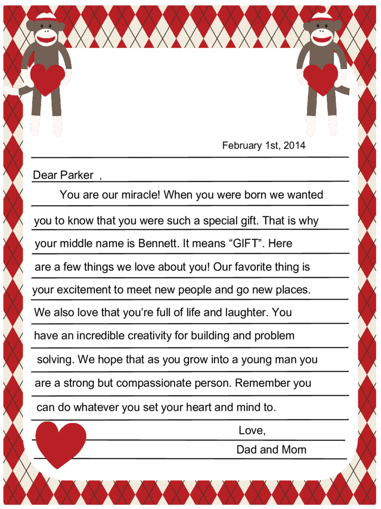 Valentine's Day Letter Templates - 6 Free Templates in PDF, Word ...