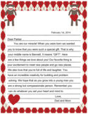Parent Valentines Letter Free Download