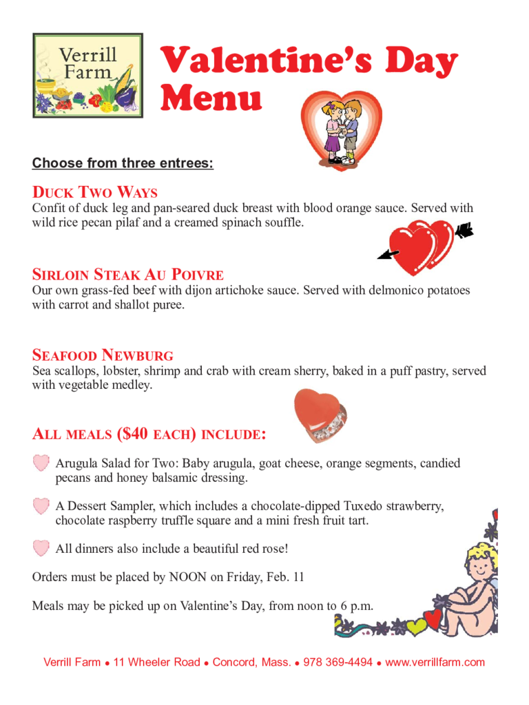 Valentine S Day Menu Template 5 Free Templates In Pdf Word Excel