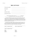 Vehicle Bill of Sale Format