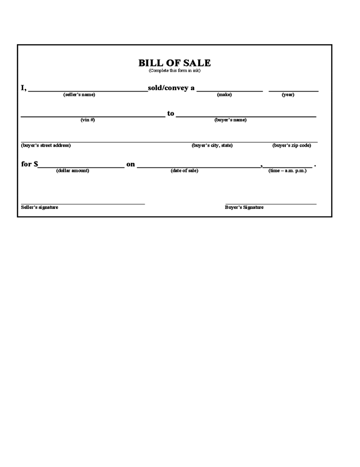 bill of sale form iowa free download