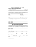 Bicycle or Moped Bill of Sale Form - Hawaii