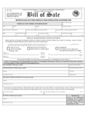 Vehicle or Vessel Bill of Sale Form - New Mexico