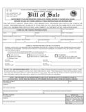 Vehicle or Vessel Bill of Sale Sample Form - New Mexico