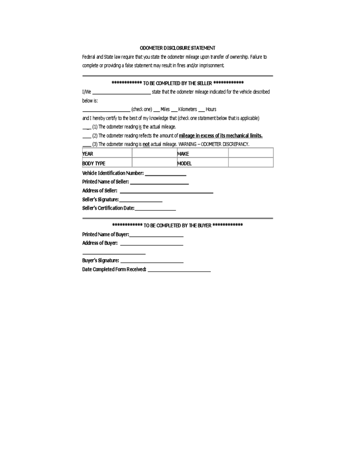 Vehicle Bill Of Sale Form Oregon Free Download