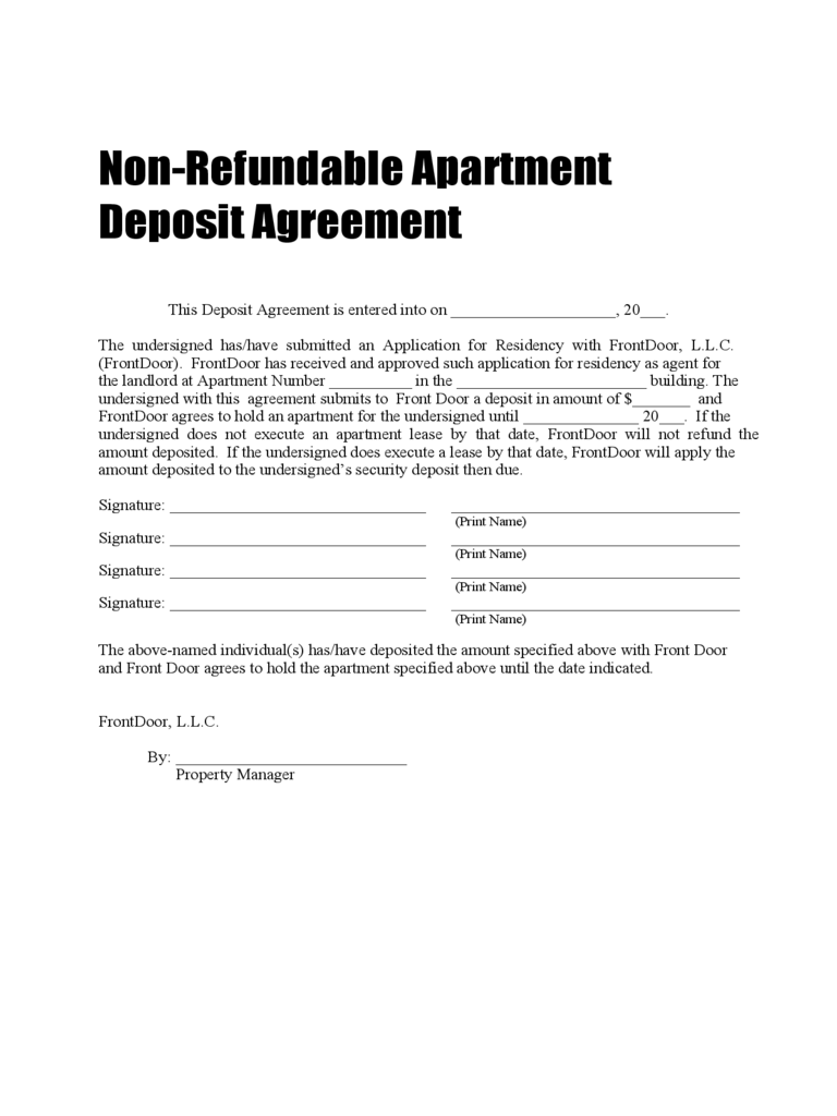 car deposit contract template - deposit form 69 free templates in pdf word excel download