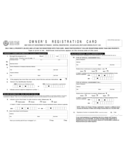 Form of Owner's Registration Card Free Download