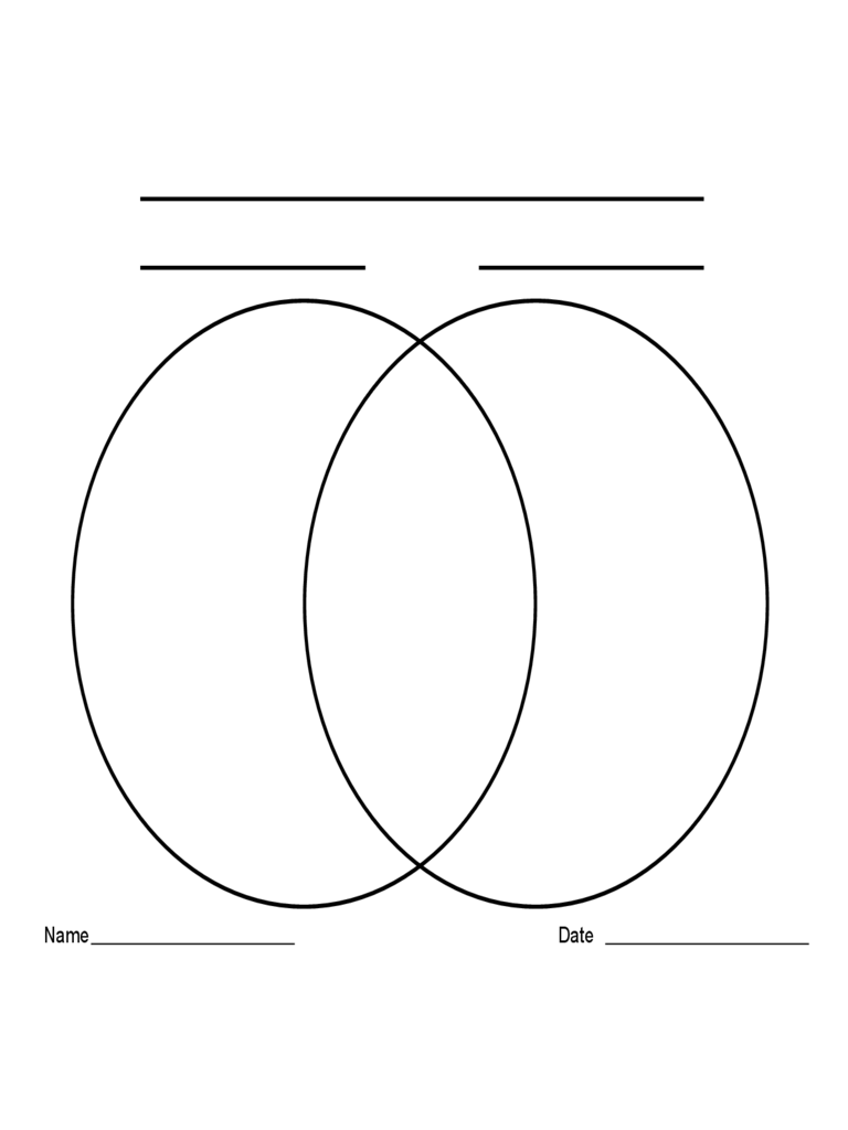 2-Circle Venn Diagram Template Free Download