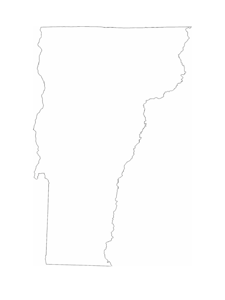 Vermont State Outline Map