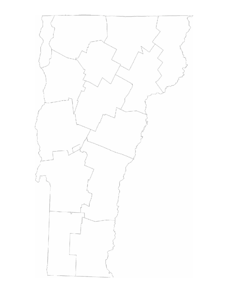 Blank Vermont County Map