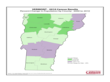 Vermont County Population Change Map