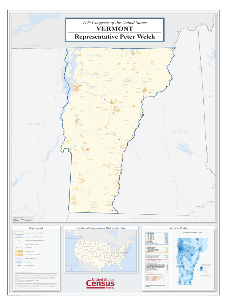 Vermont Congressional District Map